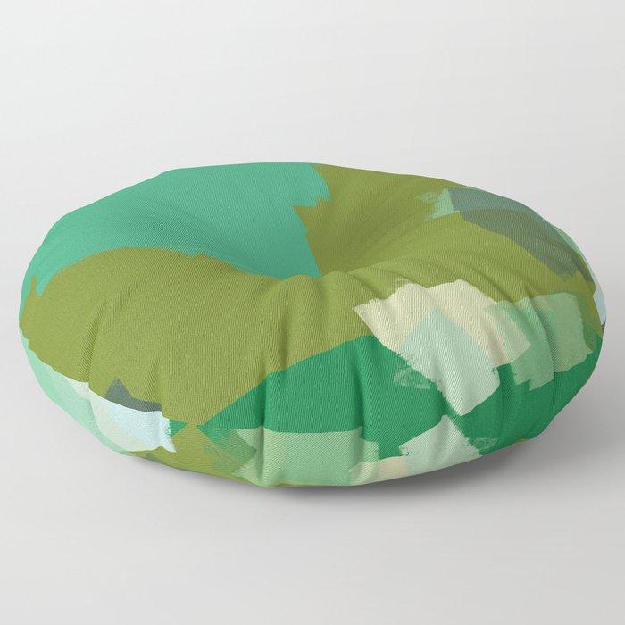 Ode to green 3 Floor Pillow