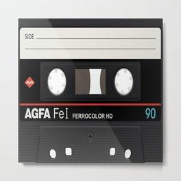 Cassette Inside Metal Print