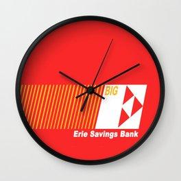 Erie Savings Bank (White) Wall Clock