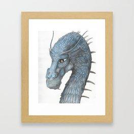 Blue Saphira Framed Art Print