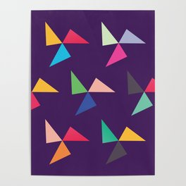 Colorful geometric pattern IV Poster