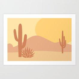 Neutral Desert Art Print