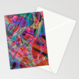 Colorful Abstract Stained Glass G297 Stationery Cards