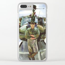 """""""Semper Paratus"""" - """"Always There, Always Ready"""" - Lt. Luciw of the R.I. Army National Guard Clear iPhone Case"""