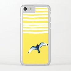 Soaring - sunshine stripe sky Clear iPhone Case