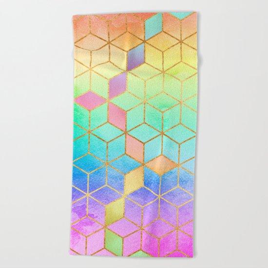 Rainbow Cubes Beach Towel