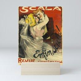 scala enfin, seuls! 1901 oude poster Mini Art Print