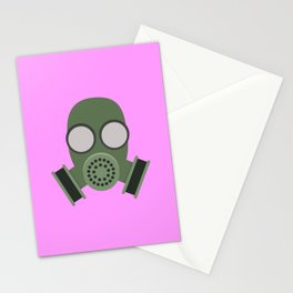 Army Gasmask Stationery Cards