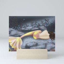 Sleeping Mermaid Mini Art Print