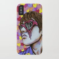 good vibes iPhone & iPod Cases featuring GOOD VIBES by Javiera Valiente