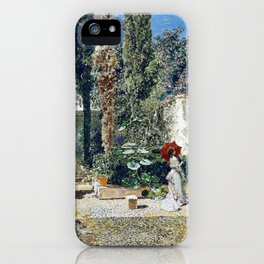 Garden Of The House Of Fortuny - Digital Remastered Edition iPhone Case