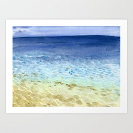 I look at the sea and I dream Art Print
