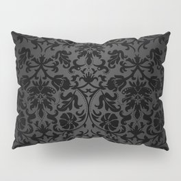 Black Damask Pattern Design Pillow Sham