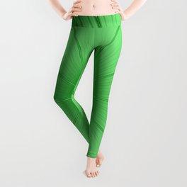 Green Flower Leggings