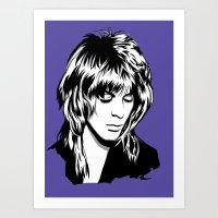 randy c Art Prints featuring Randy Rhoads by Laura Meg
