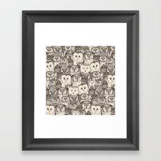 just owls natural Framed Art Print