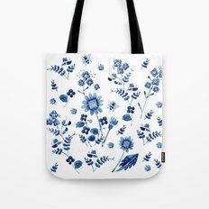 Spring wild flowers & Bee Tote Bag