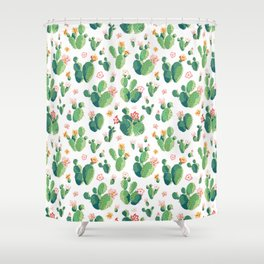 Cactus pattern II Shower Curtain