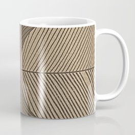 Minimal Tropical Leaves Pastel Beige Coffee Mug