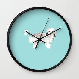 Havanese farting dog cute funny dog gifts pure breed dogs Wall Clock
