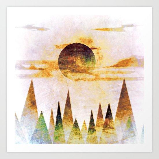 Arctic Moon Art Print