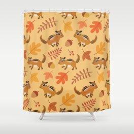 Autumn chipmunks Shower Curtain