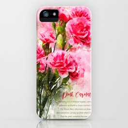 Pink Carnation iPhone Case