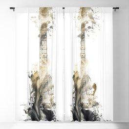 Blues Guitar Blackout Curtain