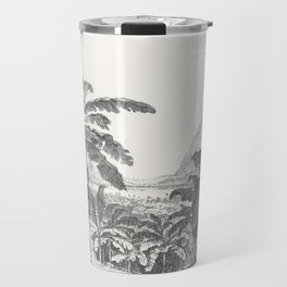 Palms and Mountain Travel Mug