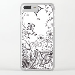 Garden Doodle 2 Clear iPhone Case