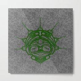Grass Frog Smoke Metal Print