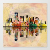 miami Canvas Prints featuring miami  by mark ashkenazi