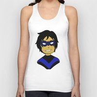 nightwing Tank Tops featuring Robin I - Nightwing by Tristan Sites