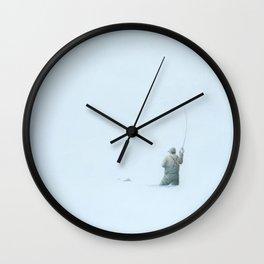 Flyfishing: Solitude Wall Clock