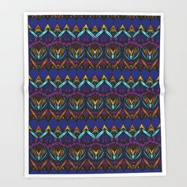 Rainbow Lace | Nicole B Roberts Throw Blanket