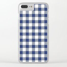 Blue Vichy Clear iPhone Case