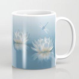 Blue Lotus and Dragonfly Coffee Mug