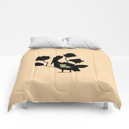 Louisiana - State Papercut Print Comforters