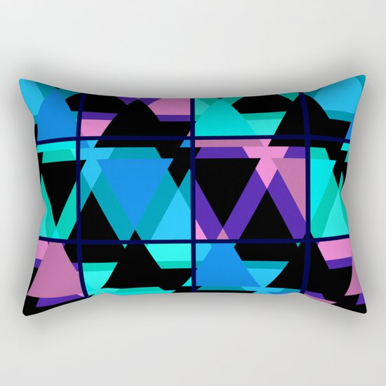 Colorful triangles . No. 1 Rectangular Pillow