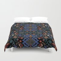 folk Duvet Covers featuring Folk by Pommy New York