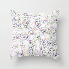 Cyberflowers pixel dots on white background Throw Pillow