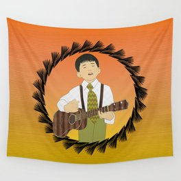 Ukulele musician Wall Tapestry