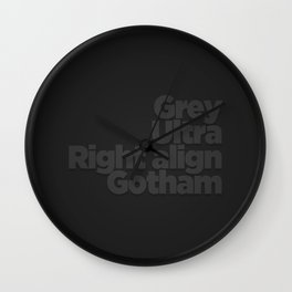 MetaType Black Wall Clock