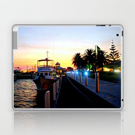 Night falls over lake Entrance Laptop & iPad Skin