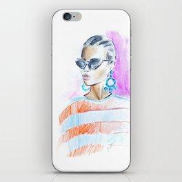 Watercolor girl iPhone Skin