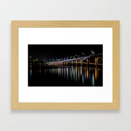 Banpo Bridge Fountain Framed Art Print