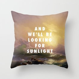 Ivan Aivazovsky, The Ninth Wave (1850) / Halsey, Roman Holiday (2015) Throw Pillow