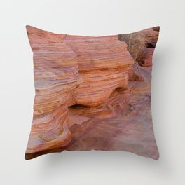 Colorful Sandstone, Valley of Fire - II Throw Pillow