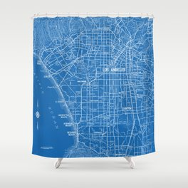 Los Angeles Street Map Shower Curtain