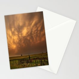 Afterglow - Clouds Glow After Storms at Sunset Stationery Cards